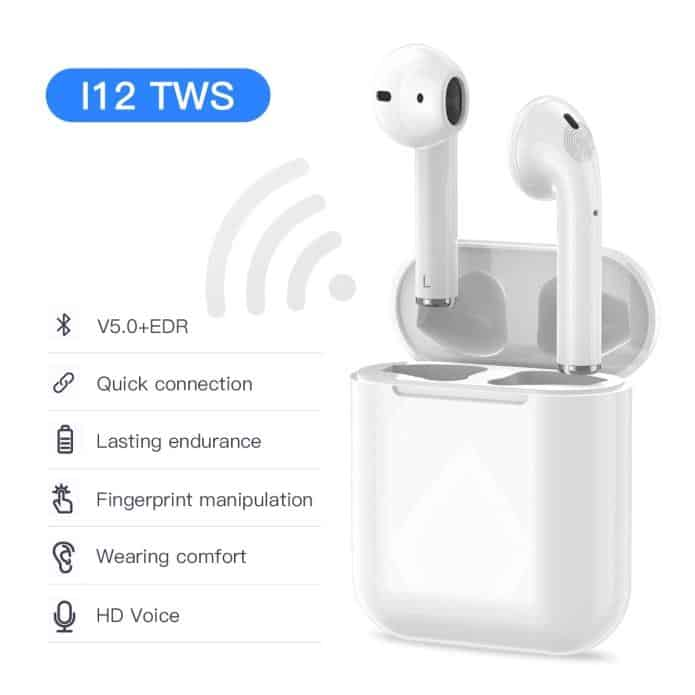 NEW i12 TWS Bluetooth Earphone Wireless Earphones Touch ...