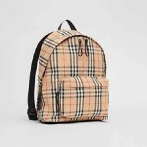 Burberry Copy Vintage Check Nylon Backpack for Women