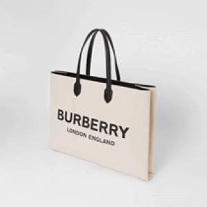 Burberry lookalike women bag Men's Logo Detail Cotton Blend Tote