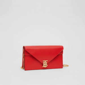 The TB Collection: a structured shoulder bag with a Thomas Burberry Monogram clasp
