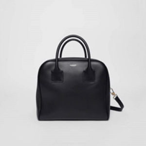 Burberry replica Small Leather Cube Bag in Black for women corporate