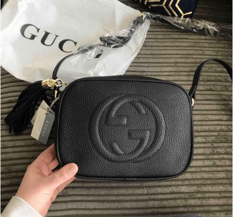 Fake Gucci Bags and Luxury Gucci replica leather disco bag