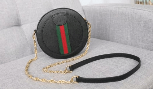 Ophidia Mini Round Shoulder Bag with leather replica Gucci handbags & wallets sale in US