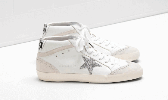 Golden Goose Mid Star Leather and Suede with Glitter Star is the best Fake Golden Goose Sneakers. they add a cool element to every outlook. who says only the rich can wear luxury shoes.