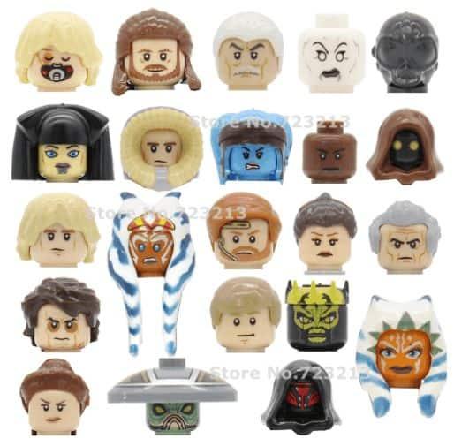 Star Wars Lepin Character Head Figures. read about lepin star wars review lepin star wars minifigures