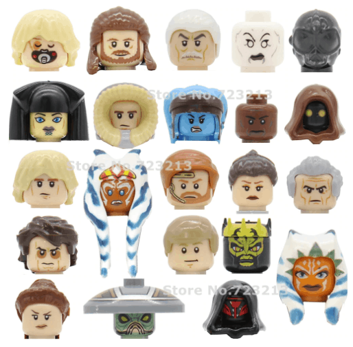 Star Wars Lepin Character Head Figures. read about lepin star wars review lepin star wars minifigures
