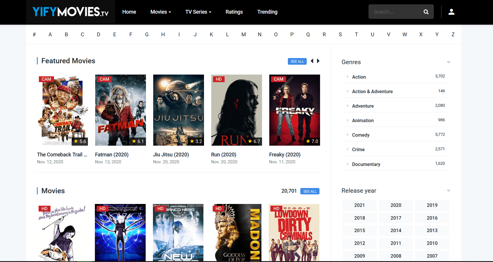 YIFY TV is Alternatives to TheWatchSeries