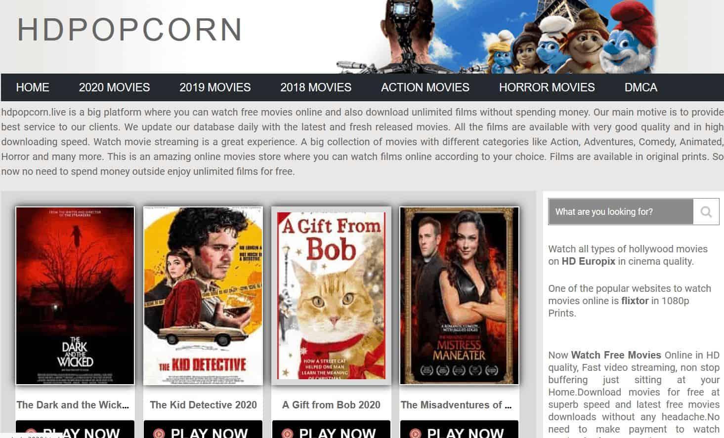 Popcornflix - Alternatives to Putlocker
