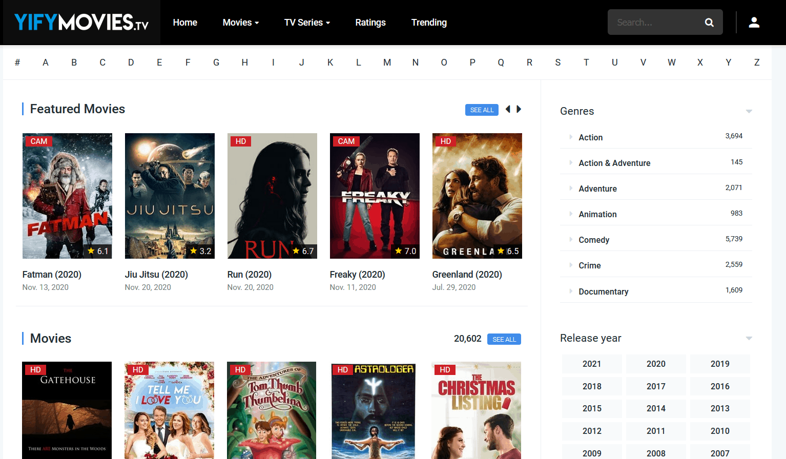 YIFY Movies is the best Alternatives to SolarMovie