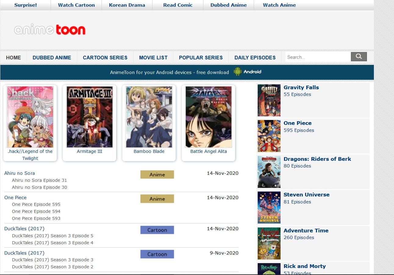 AnimeToon is an Alternative to KissCartoon