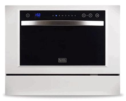 Siguiente El mejor lavaplatos para Bosch es el lavaplatos compacto de encimera BLACK + DECKER BCD6W