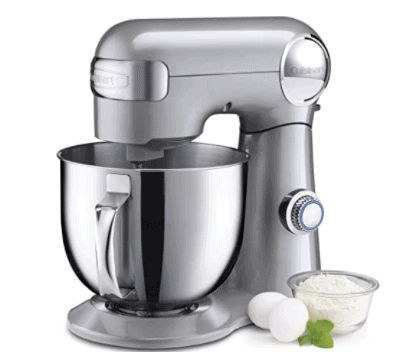 Cuisinart 5.5-Quart Stand Mixer is well liked by most home bakers and cooks and is a next best mixer to kitchenaid if you find the series 600 too pricey.