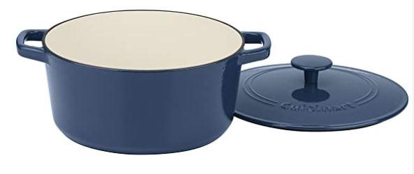 Cuisinart - Cazuela redonda de hierro fundido de 5 qt, perfecta para cocineros principiantes, es una alternativa de horno holandés Le Creuset para este año