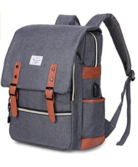 Modoker Vintage Laptop Backpack is top 8 Backpacks Like the Fjällräven Kånken, backpacks for college, university, students