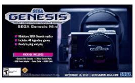 Sega Genesis Mini Gaming Console, dos almohadillas de control clásicas de 3 botones, una variedad básica pero enorme de juegos, años 90, fácil de usar. sega saturn similar playstation 5 alternativa
