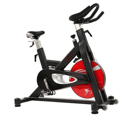 Sunny Health & Fitness SF-B1714 Evolution Pro Magnetic Belt Drive Indoor Cycling Bike is the top 5 Best Peloton Indoor Bikes Alternatives, magnetic resistance, live and on demand cycling classes