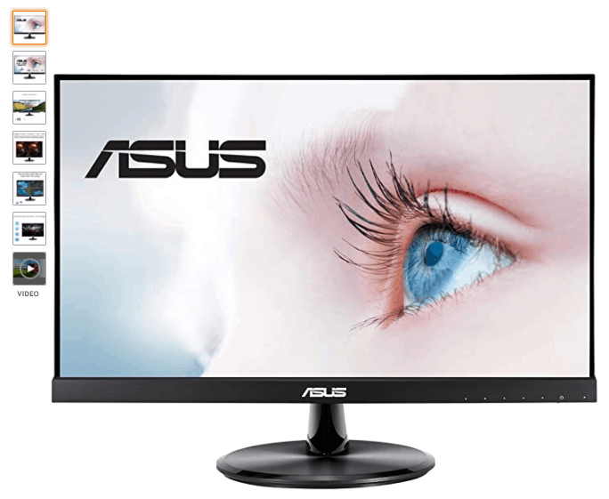 """ASUS VP229HE 21.5"""" Monitor is the Best Alternatives to Apple's Pro Display 2021, a frameless IPS panel for wide angle viewing to deliver incredibly sharp imagery and stunning video playback, 75 hz refresh rate, ASUS VP229HE Specs"""