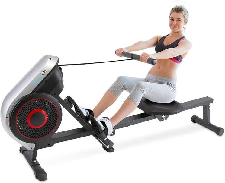 What rowing machine do rowers use?, SereneLife Rowing Machine – Air and Magnetic Rowing Machine, foldable, seated rowing machine, What rowing machine is comparable to Concept 2?, Is Magnetic rower better than water rower? Can you lose belly fat on a rowing machine? rowing is a very efficient way to lose weight and burn calories