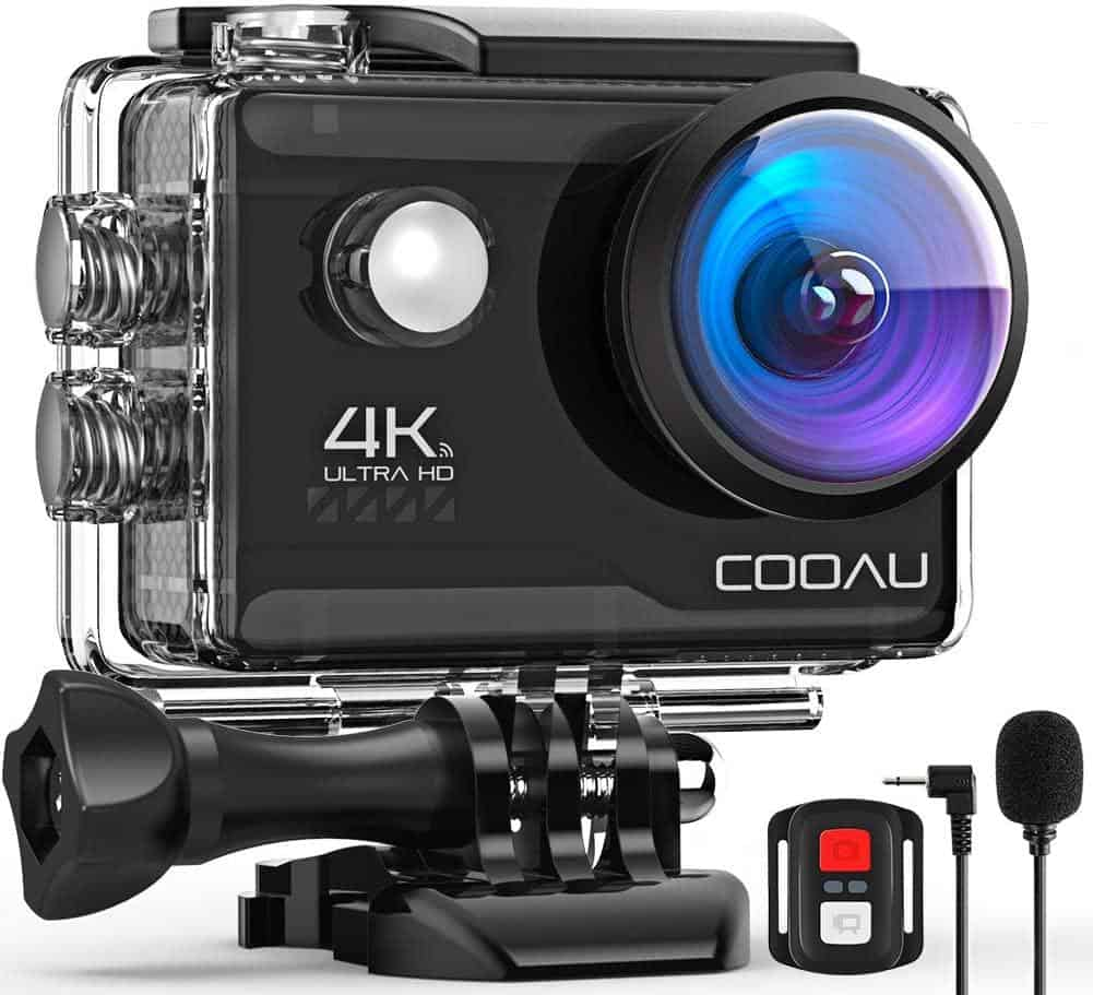 COOAU 4K 20MP WiFi Action Camera is the Best cheap action camera 2021, here are the top 5 best budget action, we really adore the newest upgraded chip and 7 layers of optical glass lens. Fisheye Lens High Definition Attachment Lens