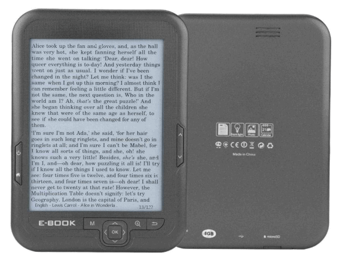 Eboxer-1 E-Book Reader is Best E-Readers for this year with Ebook Reader Reviews and Best tablet to buy for reading, 6 inch E-Reader, Electronic Support Font Zoom/Font Transform/Bookmark/Skip Page/Read Aloud