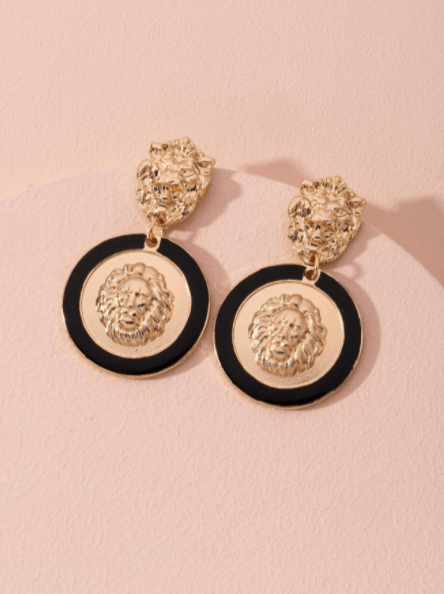 Los pendientes de gota grabados con animales son las mejores joyas de diseñador de Shein, los pendientes de diseñador de diseñador asequibles son baratos, ¿las joyas de Shein son falsas?
