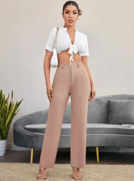 Elegant High Rise Tailored Pants es el top 10 de las mejores imitaciones de ropa de diseñador para mujeres, las mejores imitaciones de diseñador, imitaciones de diseñador asequibles por poco dinero, ¿cuál es la mejor alternativa a Shein ?, 10 selecciones de ropa shein asequibles