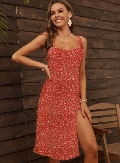 Top 10 Best Designer Clothing Dupes for Women is Floral Cami Dress, The Best Designer Dupes, Cheap Designer Dupes for Cheap, Best Shein dresses summer, shein dresses for girls