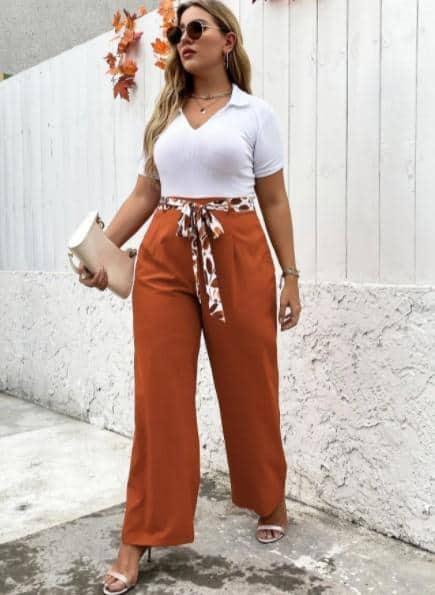 Las 10 prendas más de moda de talla grande para mujer son los elegantes pantalones anchos con cinturón, tienda online de ropa de talla grande en EE. UU., Consejos de compra: dónde comprar ropa para figuras de talla grande, ropa y vestidos de talla grande para mujer